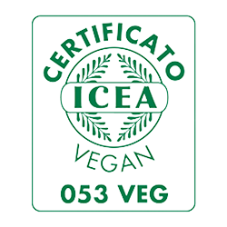 icea vegan certificate mark for reolì