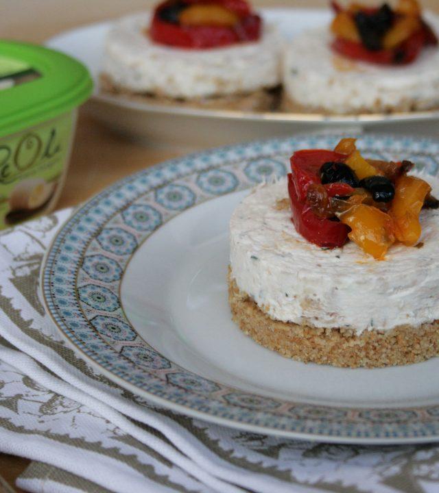 immagine della ricetta Cheesecake Salata realizzata con Reolì Extravergine