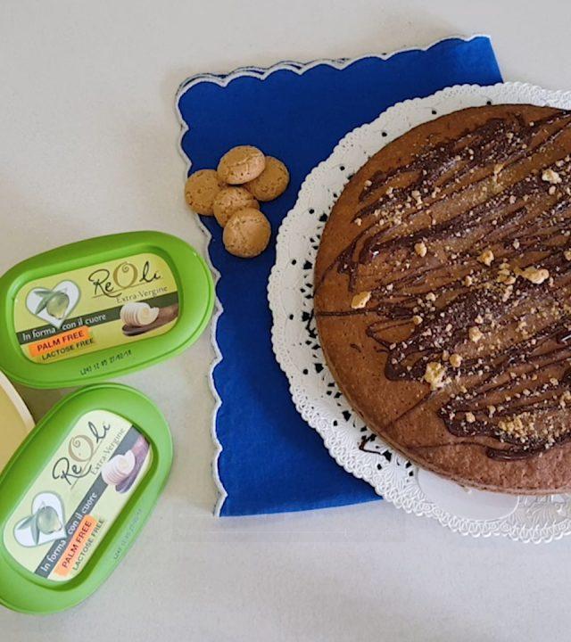immagine della ricettaTorta Amaretti e cioccolato fondenterealizzata conReolì Extravergine
