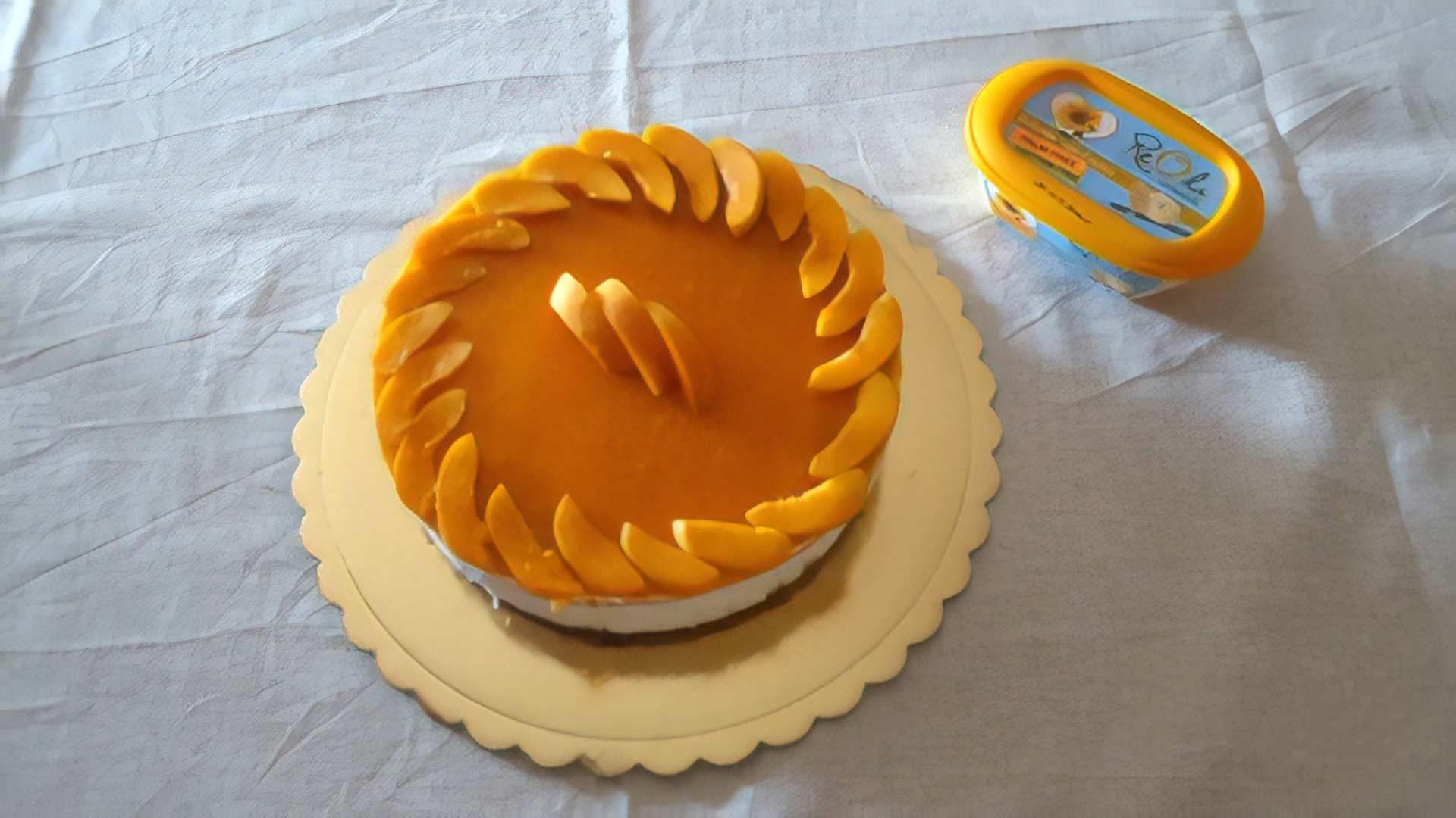 immagine della ricetta Cheesecake con coulis di albicocche