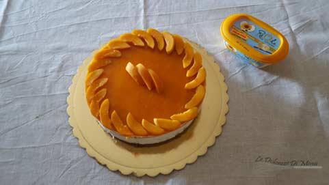 preparazione della cheesecake con coulis di albicocche senza burro passo 18