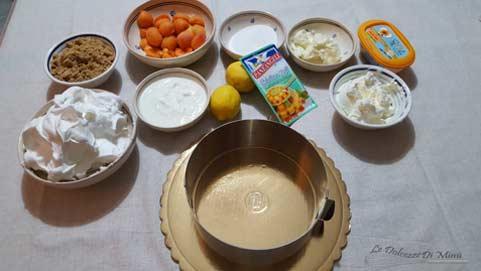 ingrediente per la preparazione della cheesecake con coulis di albicocche senza burro