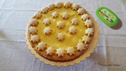crostata al limone senza burro completa