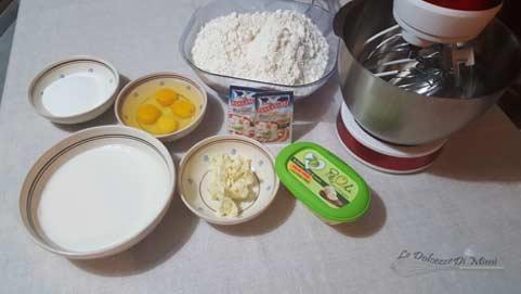 ingredienti per realizzare un ottimo pan brioche senza burro